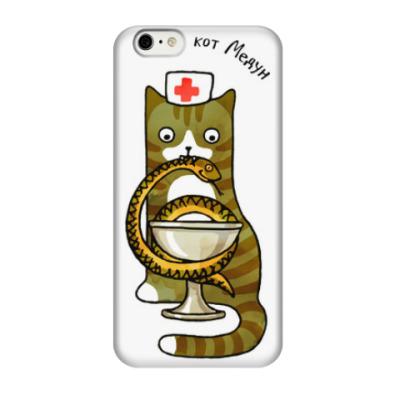 Чехол для iPhone 6/6s Кот военный медик