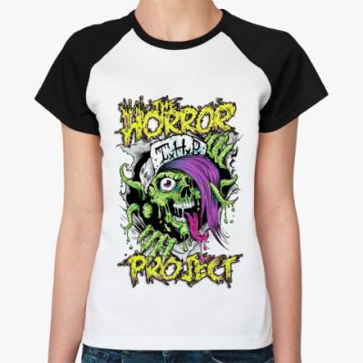 Женская футболка реглан The HORROR PROJECT
