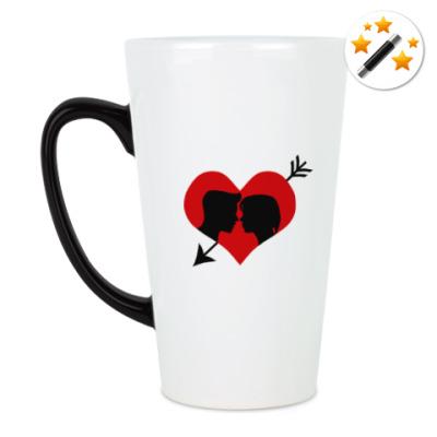 Кружка-хамелеон Сердце хочет любви