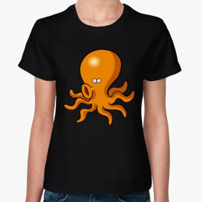 Женская футболка осьминог LOL