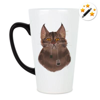 Кружка-хамелеон Чайный кот