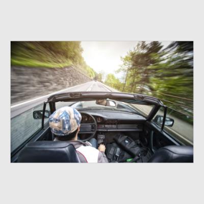 Постер Путешествие на Porsche 911 в Швейцарии