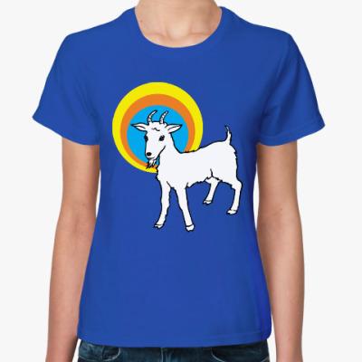 Женская футболка Год козы