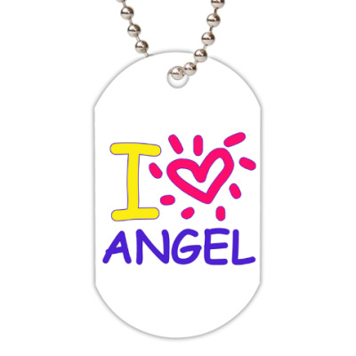 Жетон dog-tag Supernatural - I love Angel