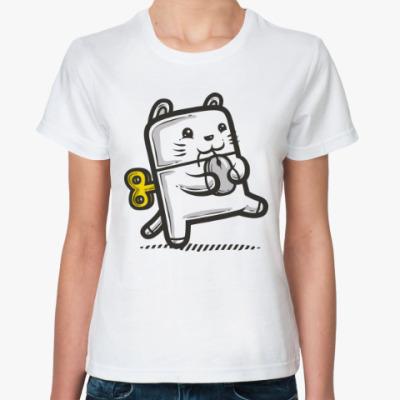 Классическая футболка Котик и мышка