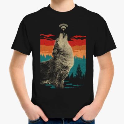 Детская футболка Волк раздаёт WiFi