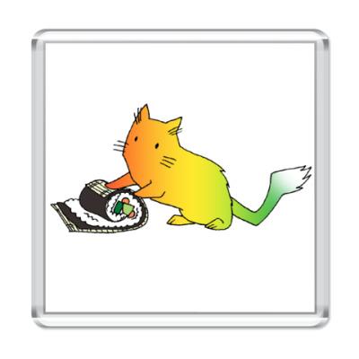 Магнит  Желтый кот