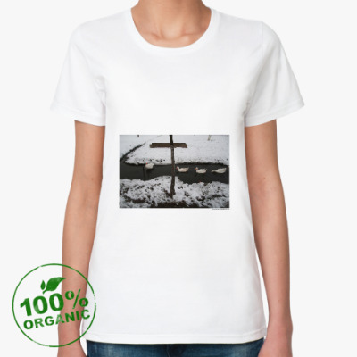 Женская футболка из органик-хлопка фотография