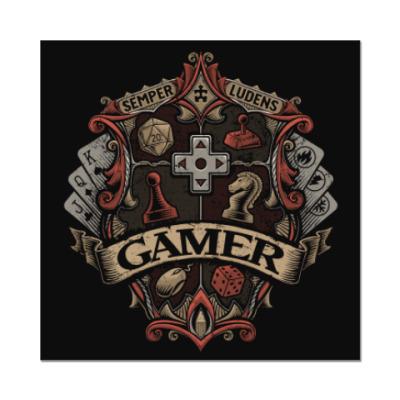 Наклейка (стикер) Герб Геймера Gamer