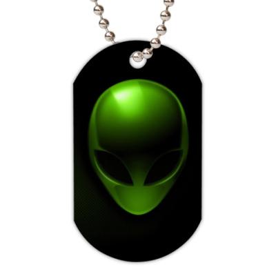 Жетон dog-tag  UFO