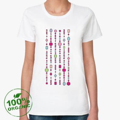 Женская футболка из органик-хлопка Бусики