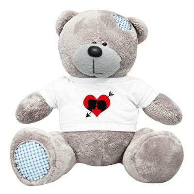 Плюшевый мишка Тедди Сердце хочет любви
