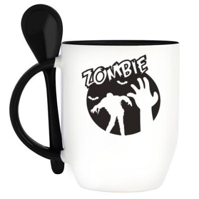Кружка с ложкой Zombie