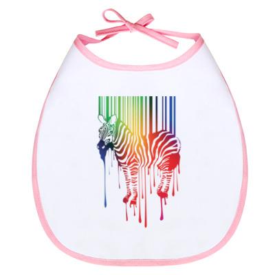 Слюнявчик Цветная зебра