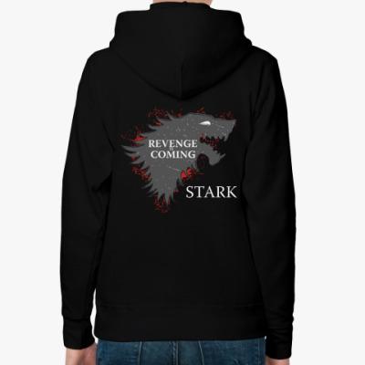 Женская толстовка худи Revenge is coming . STARK