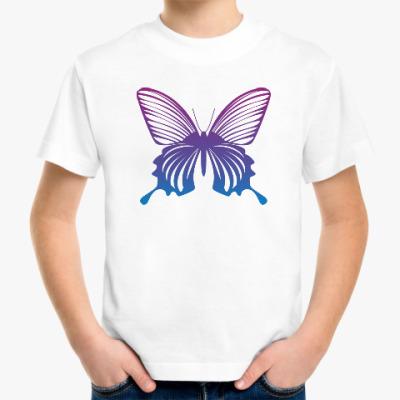 Детская футболка Бабочка Butterfly Vintage