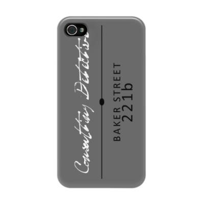Чехол для iPhone 4/4s Визитка Шерлока Холмса