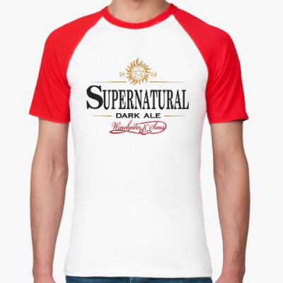 Футболка реглан Supernatural - Темный эль