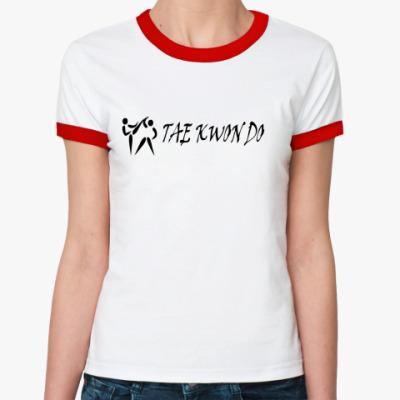 Женская футболка Ringer-T Taekwondo