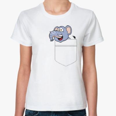 Классическая футболка Слон в кармане