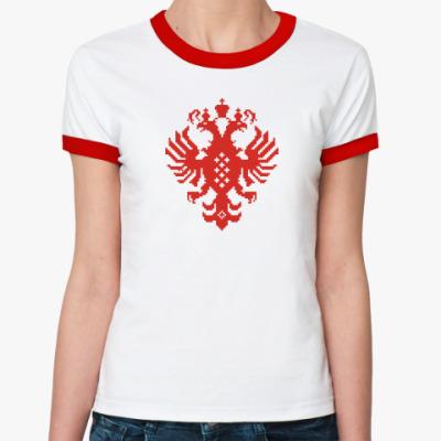 Женская футболка Ringer-T Герб Российской империи
