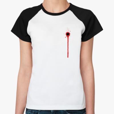 Женская футболка реглан Ранена в сердце  Жен