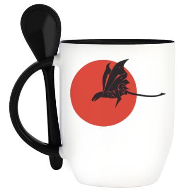 Кружка с ложкой Dragon Targaryen