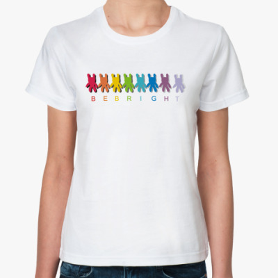 Классическая футболка Будь ярким