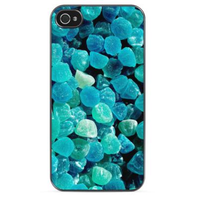 Чехол для iPhone Синие конфеты