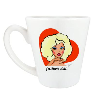 Чашка Латте Девушка одуванчик