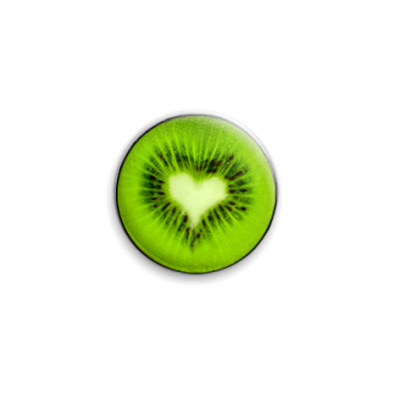 """Значок 25мм """"Love kiwi""""  25 мм"""
