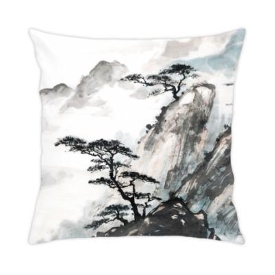 Подушка Японская живопись природа