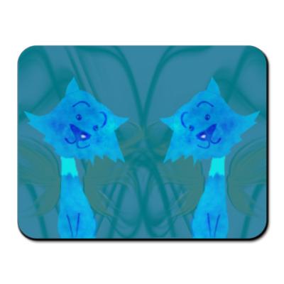 Коврик для мыши Кошечки - близнецы