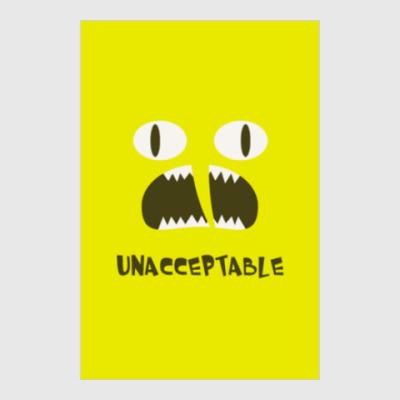 Постер Lemongrab - Unacceptable!