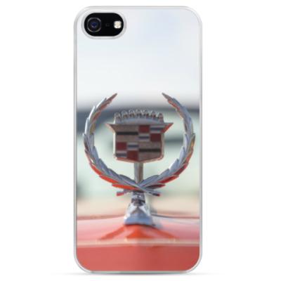 Чехол для iPhone Cadillac на капоте. Ретро лого