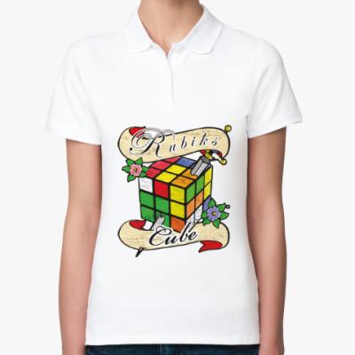 Женская рубашка поло Меч и Кубик Рубика
