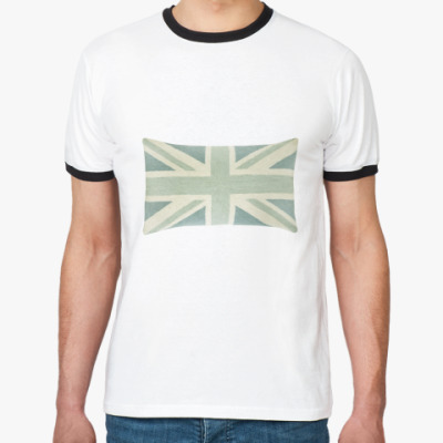 Футболка Ringer-T Бледный британский флаг