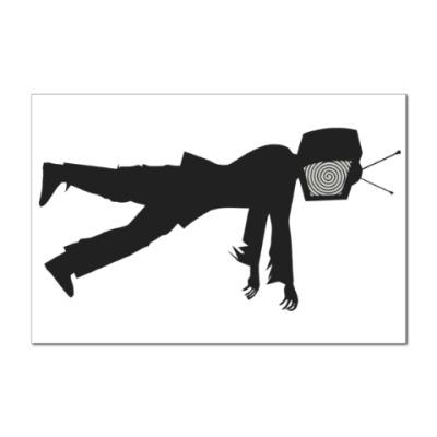 Наклейка (стикер) Зомби ТВ