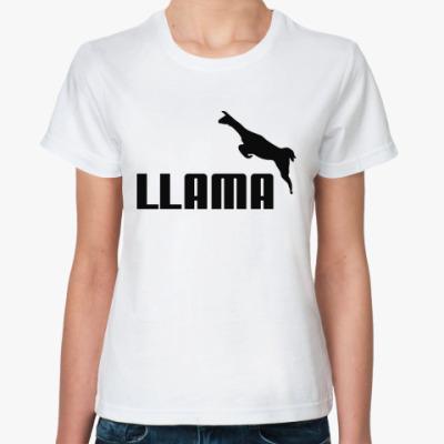 Женская футболка LLAMA
