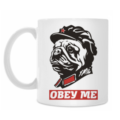 Кружка Obey the doggy