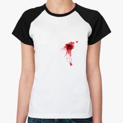 Женская футболка реглан Сквозное отверстие