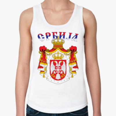 Женская майка Большой герб Сербии