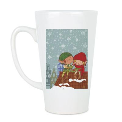 Чашка Латте эльфы