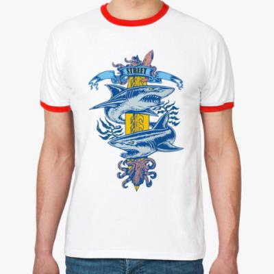 Футболка Ringer-T   Акулы