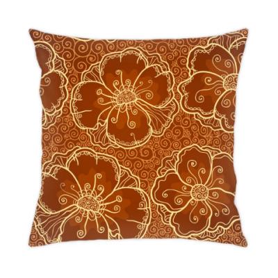 Подушка Кофейные цветы