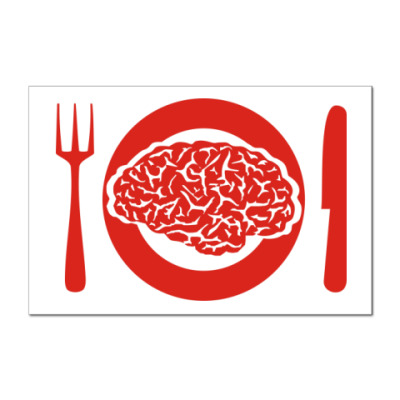 Наклейка (стикер) Мозги на обед.
