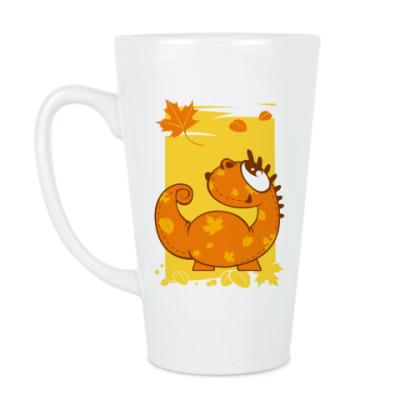 Чашка Латте дракон-осень