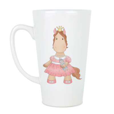 "Чашка Латте Кружка латте (510 мл) ""Лошадка Принцесса"""