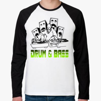 Футболка реглан с длинным рукавом Drum & Bass