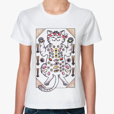 Классическая футболка Sushi & Cat